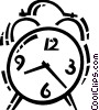 Vector Clip Art image  of an Alarm Clocks