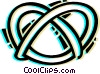 Vector Clip Art graphic  of a Pretzels