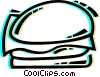 Vector Clipart graphic  of a Hamburgers