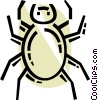Vector Clipart graphic  of a Spiders