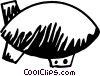 Vector Clip Art graphic  of an Airships or Dirigibles