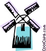 Vector Clip Art graphic  of a Dutch Windmills
