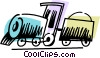 Vector Clipart graphic  of a Trains Locomotives