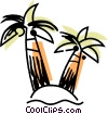 Vector Clipart image  of a Palm