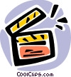 Vector Clipart illustration  of a Clapper Boards