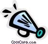Megaphones Vector Clipart image
