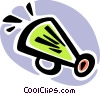 Megaphones Vector Clipart graphic