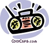 Vector Clip Art picture  of a Portable Cassette Players