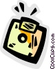 Vector Clip Art graphic  of a Diskettes Floppy Disks