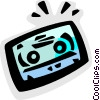 Vector Clipart graphic  of a Cassette Tapes
