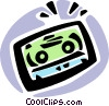 Vector Clip Art image  of a Cassette Tapes