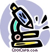 Microscopes Vector Clipart illustration