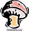 Vector Clip Art graphic  of a Mushrooms