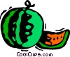 Vector Clipart picture  of a Watermelons