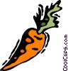Vector Clipart graphic  of a Carrots