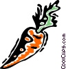 Vector Clip Art image  of a Carrots