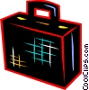 Vector Clip Art graphic  of a Luggage and Storage