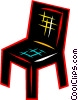 Vector Clipart illustration  of a Chairs
