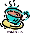 Teacups Vector Clipart graphic
