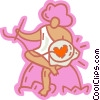 Vector Clip Art image  of a Cupid