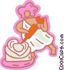 Vector Clipart illustration  of a Cupid