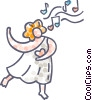 Vector Clip Art graphic  of a Cupid