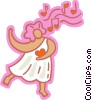 Vector Clipart graphic  of a Cupid