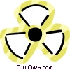 Vector Clipart image  of a Radioactive Symbols
