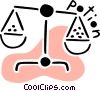 Vector Clip Art picture  of a Scales of Justice
