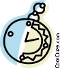 Vector Clip Art image  of a Pocket watches