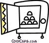 Vector Clipart graphic  of a Vaults and Safes