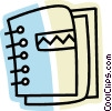 Vector Clip Art image  of a 3-Ring Binders