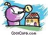 Vector Clipart graphic  of a Mortgage and Loans