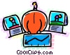 Vector Clip Art graphic  of a Presenters and Presentations