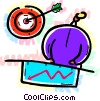 Vector Clip Art picture  of a Targets and Objectives