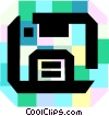 Vector Clipart graphic  of a Diskettes Floppy Disks