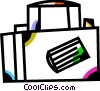 Vector Clipart picture  of a Luggage and Storage