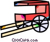 Carriages Vector Clip Art graphic