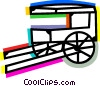 Vector Clipart image  of a Carriages