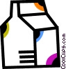 Vector Clip Art image  of a Milk