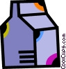 Vector Clip Art graphic  of a Milk