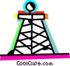 Oil Wells Vector Clipart graphic