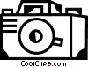 Vector Clip Art picture  of a Cameras