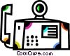 Vector Clip Art picture  of a Office Phones