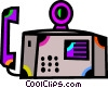 Vector Clipart image  of a Office Phones