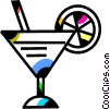 Vector Clipart illustration  of a Cocktails and Mixed Drinks