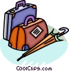 Vector Clip Art picture  of a Luggage and Storage
