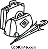 Luggage and Storage Vector Clip Art graphic
