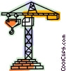 Vector Clip Art picture  of a Shipping Cranes