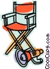 Vector Clipart graphic  of a Folding Chair